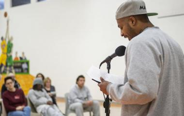 Gina Keplinger hosts first Writers' Block Poetry Slam at Lincoln Correctional Center